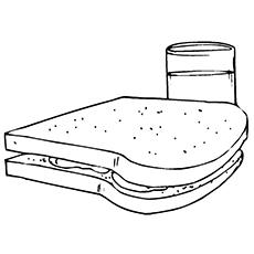 Desenho Para Colorir Sanduíche
