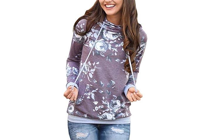 Angashion Floral Print Sweatshirt