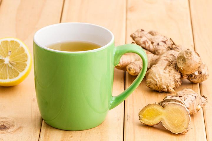 Chá de limão e gengibre