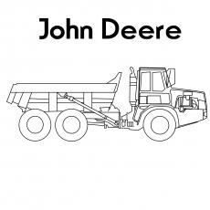 Um caminhão basculante Deere