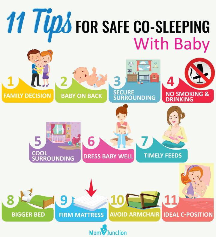 Dicas para dormir junto com segurança com o bebê