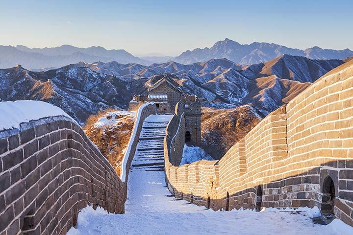 A seção Badaling é a mais visitada.
