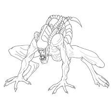 Desenho de Xenomorfo para colorir