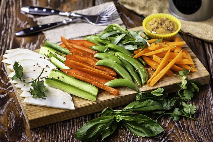 Cenouras e pimentos