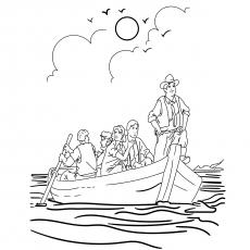 A tripulação viajando