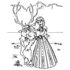 Desenho de Filme congelado, parte 3, desenho para colorir