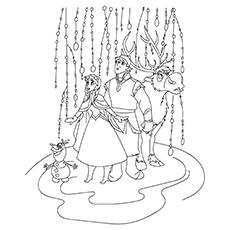 Desenho de Frozen para colorir com Olfa e Sven-16