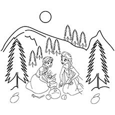 Anna e Elsa brincando com Olaf 16