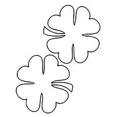 Par de trevos de quatro folhas para dar sorte