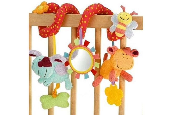 Brinquedo de desenvolvimento Campainhas Sinos Animais Chocalho Brinquedos Macios Do Bebê Transporte Rápido