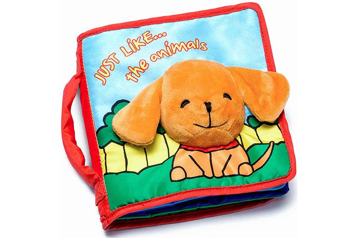 Livro de capa mole para bebês e crianças pequenas