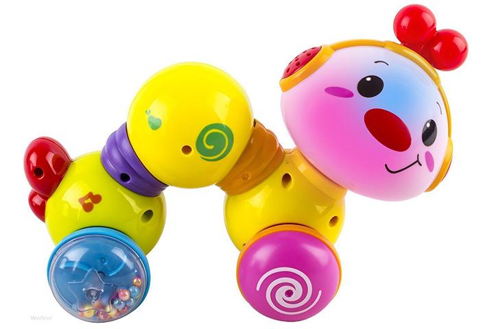 WolVol Baby Press e Crawl Inchworm Activity Toy com luzes e música