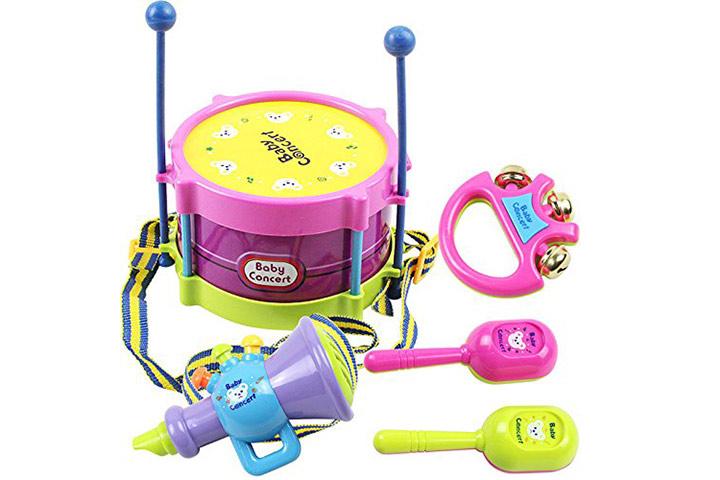 5 PCS bebê infantil criança Developmental Toy Drum Sounds para crianças jogo educativo