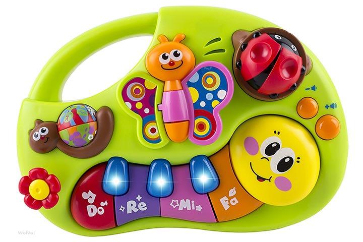 WolVol Bebê Musical Piano Teclado Brinquedo Bebê Brinquedos Centro educacional educacional