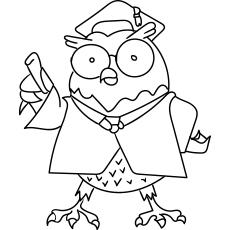 Desenho de professor de coruja para colorir