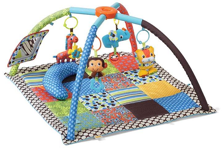 Ginásio infantil de atividades para torcer e dobrar