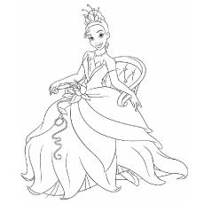 Desenhos de Tiana Princess e o sapo para colorir