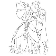 Desenhos de Tiana e Naveen para colorir Quebrando a princesa e o sapo