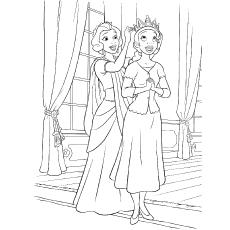 Desenho de Rainha das Maldivas da série Princesa e Sapo para colorir