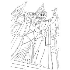 Desenho de Princesa e o sapo para colorir