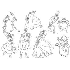 Desenho de Princesa e Elenco da série Sapo para colorir