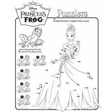 Ligue os pontos para completar a imagem Princess to Color