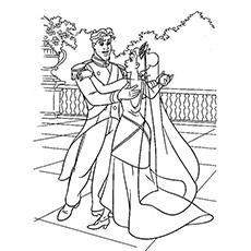 Desenhos de Princesa Tiana e Príncipe Naveen para colorir