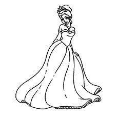 Princesa Tiana vestindo roupão para imprimir