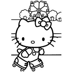 Desenhos de Kitty na escola para colorir