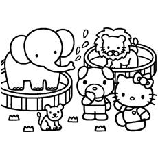 Hello Kitty ajuda a comprar páginas para colorir imprimíveis