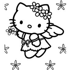 Desenhos de Kitty An Angel para colorir
