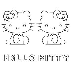 Desenhos de Kitty White e Mimmy para colorir