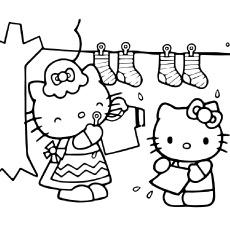 Desenhos de Hello Kitty para ajudar a mãe