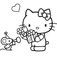 Hello Kitty com coloração de rato