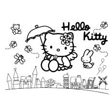 Olá-Kitty-voando-com-amigos