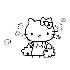 Imagens coloridas de Hello Kitty no dia feliz St Partrcks