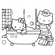 Folha de banho Hello Kitty