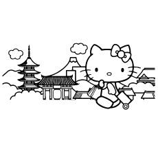 Hello Kitty viajando em cores para crianças