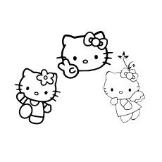 Desenhos de Hello Kitty e dois amigos