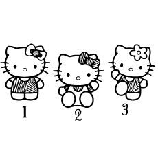 Hello Kittys com números