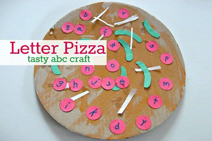 Letras de pizza