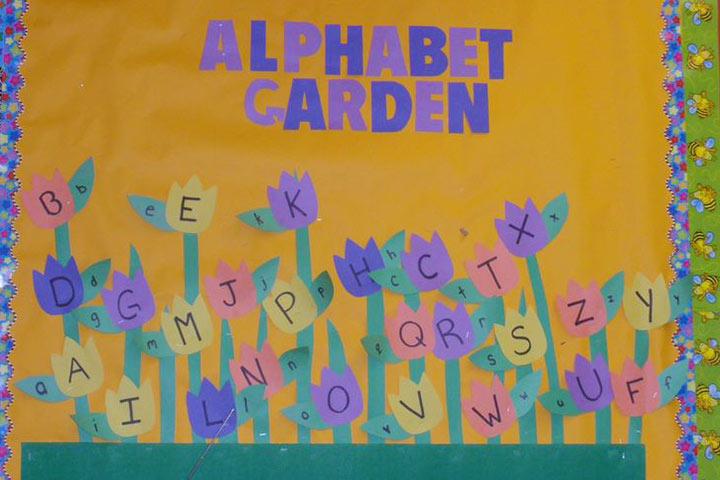 Alfabeto jardim de flores