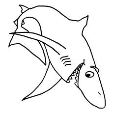 Tubarões sorridentes para colorir e imprimir