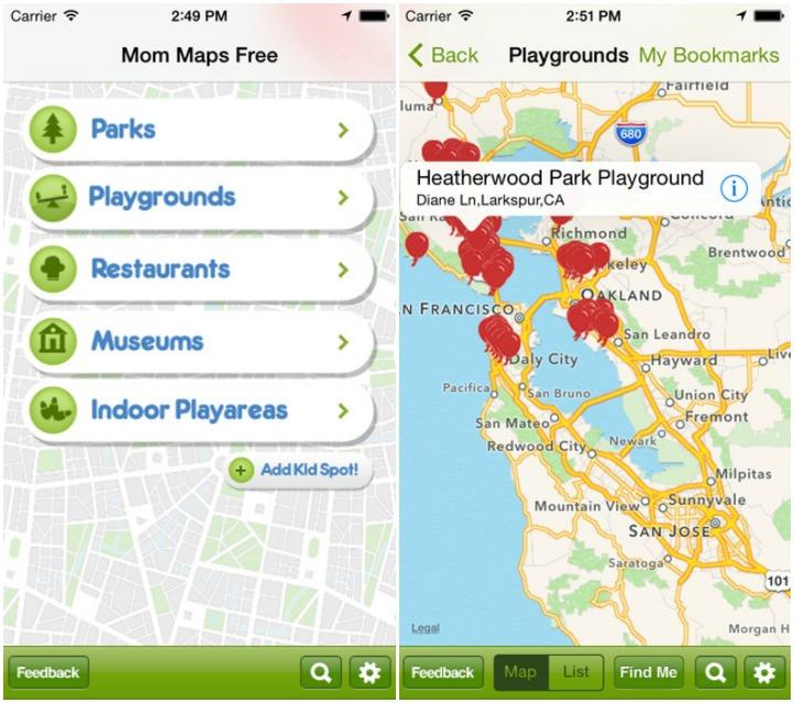 Mom Maps - Melhores aplicativos para mamãe