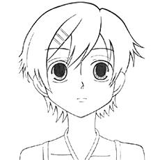 Desenho de Personagem principal Haruhi Fujioka para colorir