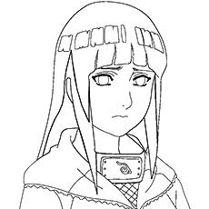 Nome do personagem de anime Hinata Hyuga para colorir