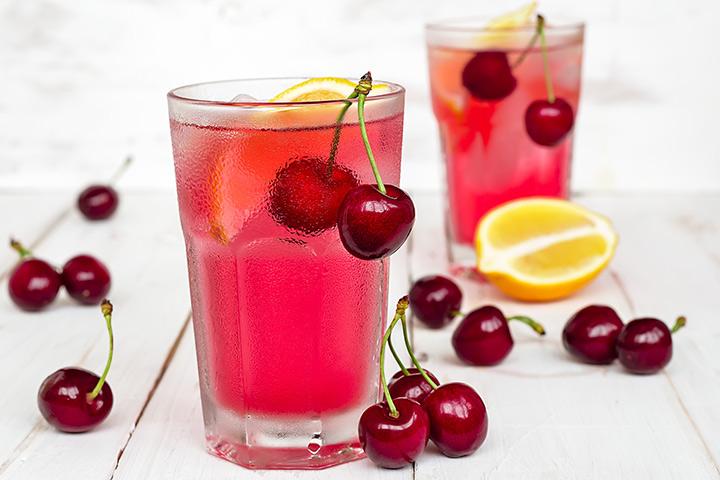 Limonada de cereja agridoce