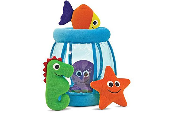 Melissa & Doug Deluxe Fishbowl Fill & Spill bebê brinquedo macio