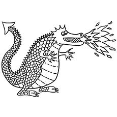 O dragão cuspidor de fogo