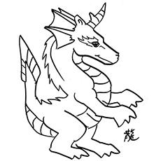 O dragão com chifres
